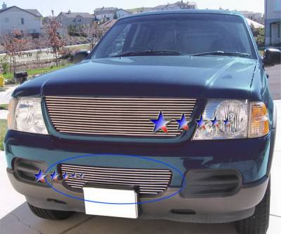 Grilles - Custom Fit Grilles - APS - Ford Explorer APS Billet Grille - Bumper - Stainless Steel - F85332S