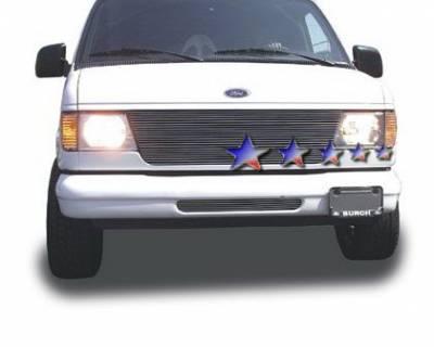 Grilles - Custom Fit Grilles - APS - Ford E-Series APS Billet Grille - 22 Bar - Upper - Aluminum - F85337A