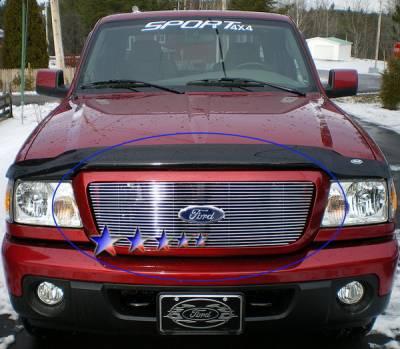 Grilles - Custom Fit Grilles - APS - Ford Ranger APS Billet Grille - Upper - Aluminum - F85342A