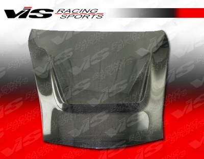 Cayman - Hoods - VIS Racing - Porsche Cayman VIS Racing G Tech Black Carbon Fiber Hood - 06PSCAM2DGTH-010C