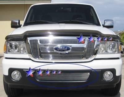 Grilles - Custom Fit Grilles - APS - Ford Ranger APS Billet Grille - Bumper - Aluminum - F85343A