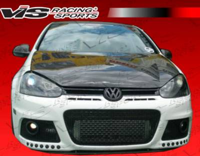 Golf - Hoods - VIS Racing - Volkswagen Golf VIS Racing Boser Black Carbon Fiber Hood - 06VWGOF2DBOS-010C