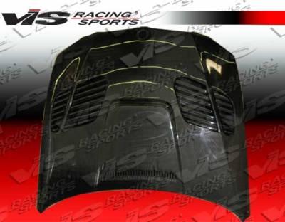 3 Series 4Dr - Hoods - VIS Racing - BMW 3 Series VIS Racing GTR Black Carbon Fiber Hood - 07BME92M32DGTR-010C