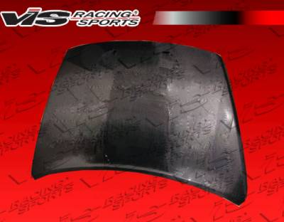 Caliber - Hoods - VIS Racing - Dodge Caliber VIS Racing OEM Black Carbon Fiber Hood - 07DGCAL4DOE-010C