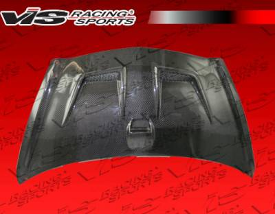Fit - Hoods - VIS Racing - Honda Fit VIS Racing Techno R Black Carbon Fiber Hood - 07HDFIT4DJTNR-010C