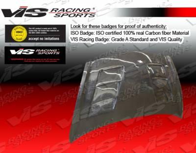 Fit - Hoods - VIS Racing - Honda Fit VIS Racing Terminator Black Carbon Fiber Hood - 07HDFIT4DTM-010C