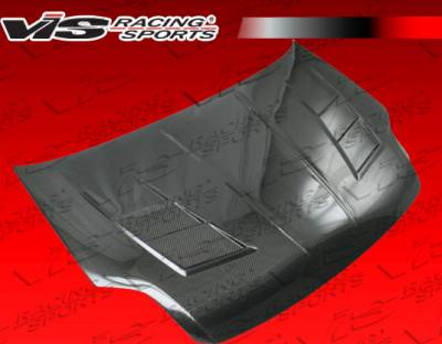 Sentra - Hoods - VIS Racing - Nissan Sentra VIS Racing Terminator Black Carbon Fiber Hood - 07NSSEN4DTM-010C