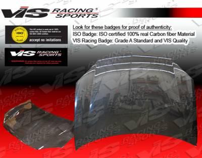 Camry - Hoods - VIS Racing - Toyota Camry VIS Racing OEM Black Carbon Fiber Hood - 07TYCAM4DOE-010C
