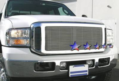 Grilles - Custom Fit Grilles - APS - Ford F350 APS Billet Grille - Upper - Stainless Steel - F85354S