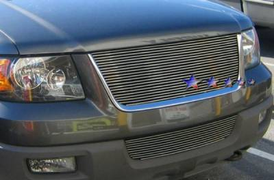 Grilles - Custom Fit Grilles - APS - Ford Expedition APS Billet Grille - Upper - Aluminum - F85372A
