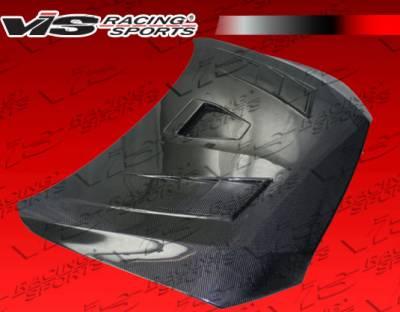 Lancer - Hoods - VIS Racing - Mitsubishi Lancer VIS Racing Terminator GT Black Carbon Fiber Hood - 08MTEV104DTMGT-010C