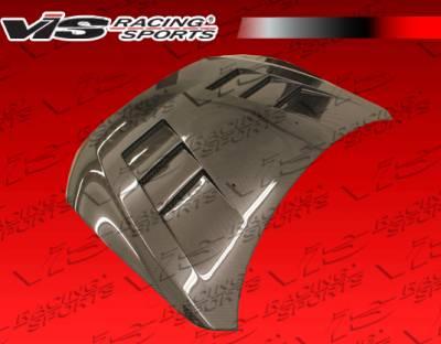 Lancer - Hoods - VIS Racing - Mitsubishi Lancer VIS Racing Terminator Black Carbon Fiber Hood - 08MTLAN4DTM-010C