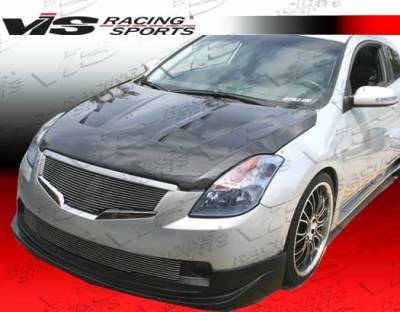 Altima - Hoods - VIS Racing - Nissan Altima VIS Racing Terminator Black Carbon Fiber Hood - 08NSALT2DTM-010C