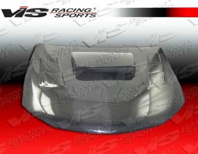 WRX - Hoods - VIS Racing - Subaru WRX VIS Racing Tracer Style Carbon Fiber Hood - 08SBWRX4DTRA-010C