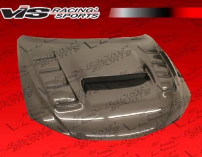 WRX - Hoods - VIS Racing - Subaru WRX VIS Racing VRS Style Carbon Fiber Hood - 08SBWRX4DVRS-010C