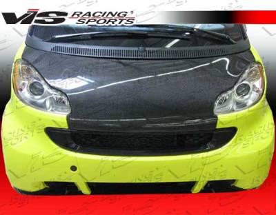 ForTwo - Hoods - VIS Racing - Smart ForTwo VIS Racing OEM Black Carbon Fiber Hood - 08SMFR22DOE-010C