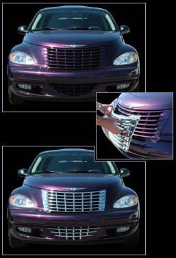 Grilles - Custom Fit Grilles - Custom - Front chrome Grille