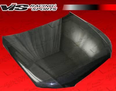 A4 - Hoods - VIS Racing - Audi A4 VIS Racing OEM Black Carbon Fiber Hood - 09AUA44DOE-010C