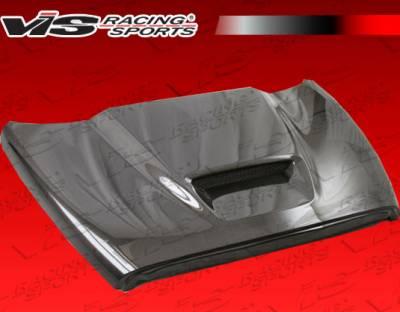Ram - Hoods - VIS Racing - Dodge Ram VIS Racing SRT Black Carbon Fiber Hood - 09DGRAM2DSRT-010C