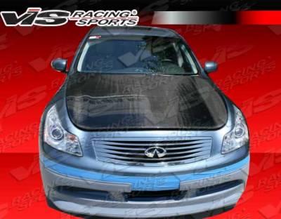 G37 - Hoods - VIS Racing - Infiniti G37 VIS Racing OEM Black Carbon Fiber Hood - 09ING374DOE-010C