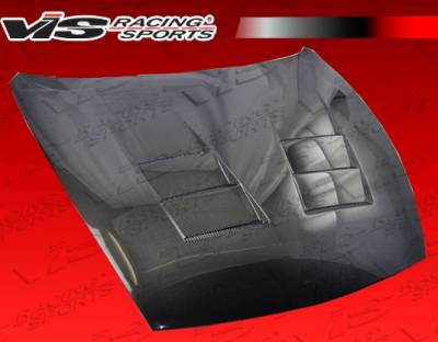 370Z - Hoods - VIS Racing - Nissan 370Z VIS Racing Terminator Black Carbon Fiber Hood - 09NS3702DTM-010C