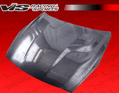 Skyline - Hoods - VIS Racing - Nissan Skyline VIS Racing GT Black Carbon Fiber Hood - 09NSR352DGT-010C