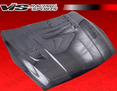 Skyline - Hoods - VIS Racing - Nissan Skyline VIS Racing GT2 Black Carbon Fiber Hood - 09NSR352DGT2-010C