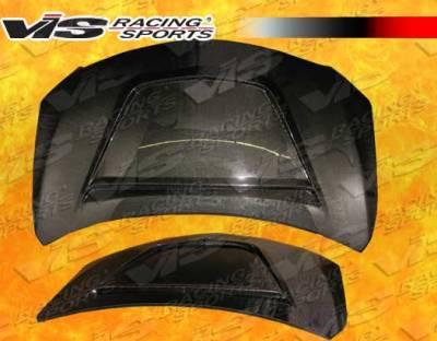 Corolla - Hoods - VIS Racing - Toyota Corolla VIS Racing V Line Black Carbon Fiber Hood - 09TYCOR4DVL-010C