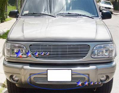 Grilles - Custom Fit Grilles - APS - Ford Explorer APS Billet Grille - Bumper - Stainless Steel - F85423S
