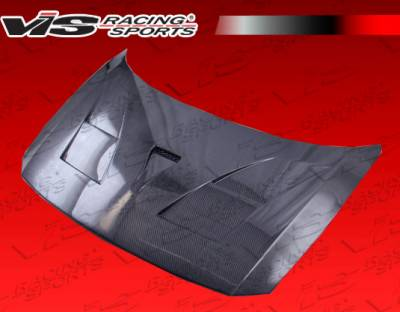 CR-Z - Hoods - VIS Racing - Honda CR-Z VIS Racing AMS Black Carbon Fiber Hood - 11HDCRZHBAMS-010C