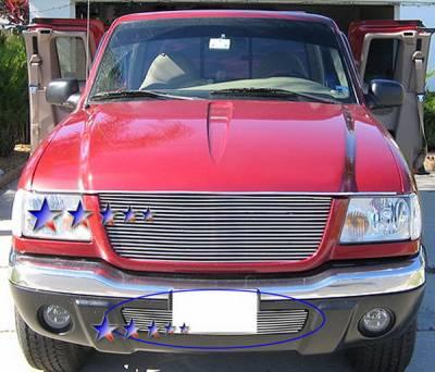 Grilles - Custom Fit Grilles - APS - Ford Ranger APS Billet Grille - Bumper - Stainless Steel - F85434S