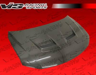 TC - Hoods - VIS Racing. - Scion tC VIS Racing Terminator Black Carbon Fiber Hood - 11SNTC2DTM-010C