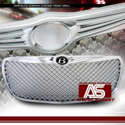 Grilles - Custom Fit Grilles - Custom - Front Chrome Mesh Grille