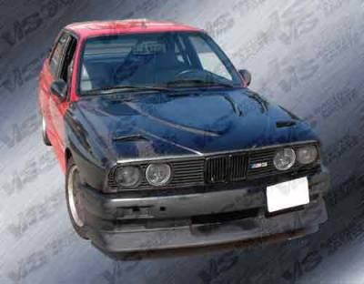 3 Series 4Dr - Hoods - VIS Racing - BMW 3 Series VIS Racing Euro R Black Carbon Fiber Hood - 84BME302DEUR-010C