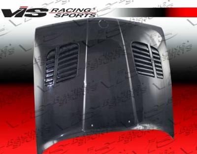 3 Series 4Dr - Hoods - VIS Racing - BMW 3 Series VIS Racing GTR Black Carbon Fiber Hood - 84BME302DGTR-010C