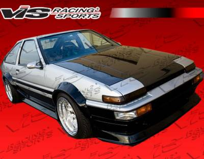 Corolla - Hoods - VIS Racing - Toyota Corolla VIS Racing OEM Black Carbon Fiber Hood - 84TYCOR2DOE-010C