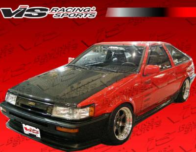 Levin - Hoods - VIS Racing - Toyota Levin VIS Racing OEM Black Carbon Fiber Hood - 84TYLEV2DOE-010C