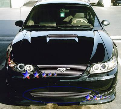 Grilles - Custom Fit Grilles - APS - Ford Mustang APS Billet Grille - Bumper - Stainless Steel - F86010S