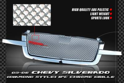 Grilles - Custom Fit Grilles - Custom - BBP Front chrome Grille