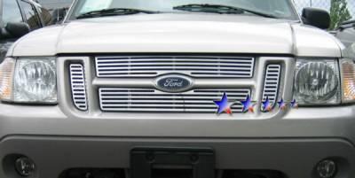 Grilles - Custom Fit Grilles - APS - Ford Explorer APS CNC Grille - Upper - Aluminum - F95323A
