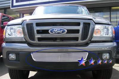 Grilles - Custom Fit Grilles - APS - Ford Ranger APS CNC Grille - Bumper - Aluminum - F95343A