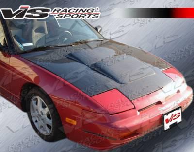 240SX - Hoods - VIS Racing - Nissan 240SX VIS Racing Techno R Black Carbon Fiber Hood - 89NS2402DTNR-010C