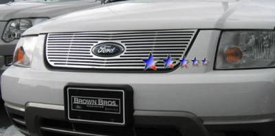 Grilles - Custom Fit Grilles - APS - Ford Freestyle APS CNC Grille - Upper - Aluminum - F95759A