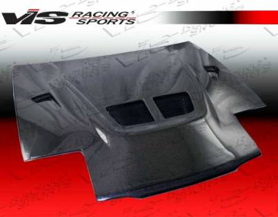 Eclipse - Hoods - VIS Racing - Mitsubishi Eclipse VIS Racing EVO Black Carbon Fiber Hood - 90MTECL2DEV-010C
