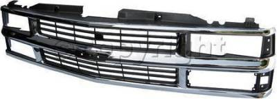 Grilles - Custom Fit Grilles - Custom - Chrome Front Grille