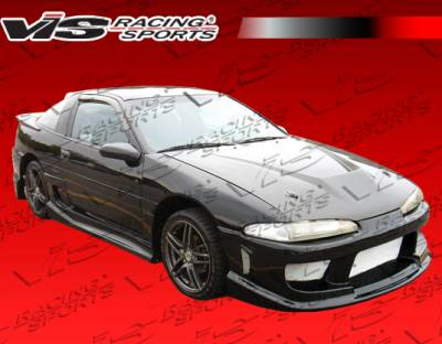 Eclipse - Hoods - VIS Racing - Mitsubishi Eclipse VIS Racing Invader Black Carbon Fiber Hood - 90MTECL2DVS-010C