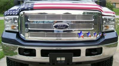 Grilles - Custom Fit Grilles - APS - Ford F350 APS CNC Grille - Honeycomb Style - Upper - Aluminum - F95799A