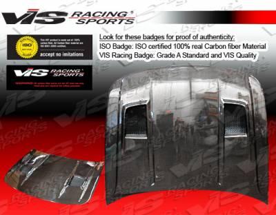 NX - Hoods - VIS Racing - Nissan NX VIS Racing Terminator-2 Black Carbon Fiber Hood - 91NSNX2DTM2-010C