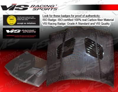 3 Series 4Dr - Hoods - VIS Racing - BMW 3 Series 4DR VIS Racing GTR Black Carbon Fiber Hood - 92BME364DGTR-010C
