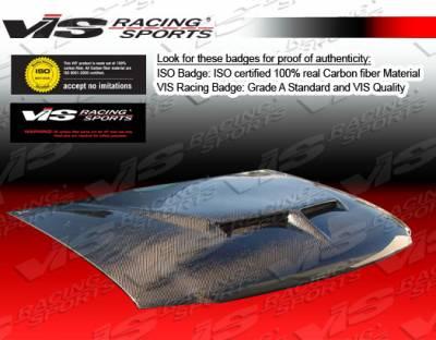 Suburban - Hoods - VIS Racing - Chevrolet Suburban VIS Racing Fiberglass Outlaw Type 2 Hood - 92CHSUB4DOL2-010